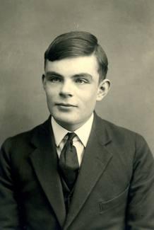 Alan Turing, cuando era un joven estudiante de 16 años en Dorset, Inglaterra.