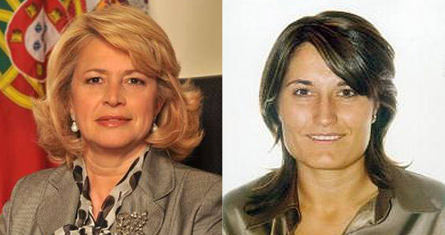 Las alcaldesas de Setúbal, Maria Das Dores Meira (i), y de Santpedor, Laura Vilagrà Pons.