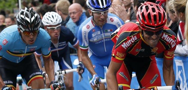 Alejandro Valverde, tercer clasificado en la prueba en ruta del Mundial de Limburgo