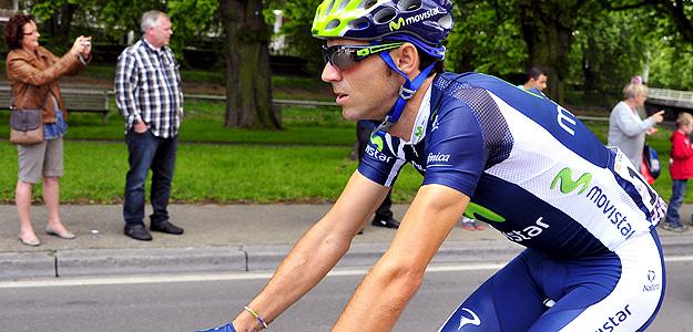 El ciclista de Movistar Alejandro Valverde.
