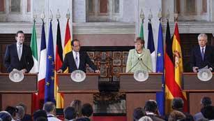 Ver vídeo  'Alemania, Francia, Italia y España acuerdan un plan de crecimiento'