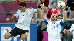 Ver vídeo  'Alemania y Grecia se juegan los cuartos de la Eurocopa'