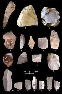 Algunas de las herramientas de los primeros habitantes del continente americano
