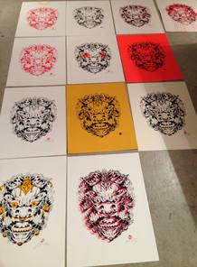 Algunas de las láminas de Aleix Gordo