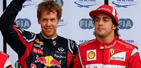 Alonso da un paso atrás y Vettel se hace fuerte