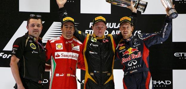 Alonso recorta tres puntos a Vettel; gana Raikkonen