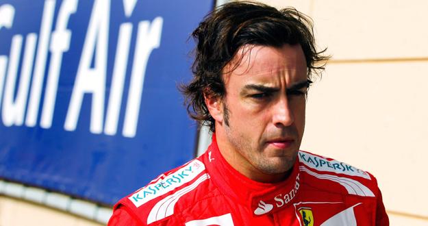 Alonso tras los entrenamientos del GP de Baréin