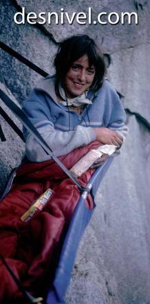 La alpinista Miriam García, muerta en el Meru Norte (India) en 1990.