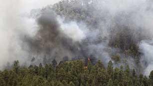 Ver vídeo  'Las altas temperaturas pueden haber reactivado los focos del incendio en La Gomera'