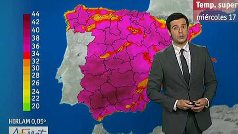 Altas temperaturas en toda España y tormentas en la Ibérica, la Bética