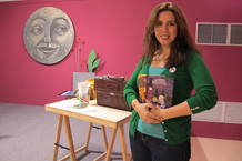Ana Campoy, tras impartir un taller infantil