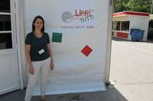 Ana Sánchez, una de las responsables del pabellón Libri Per Tutti