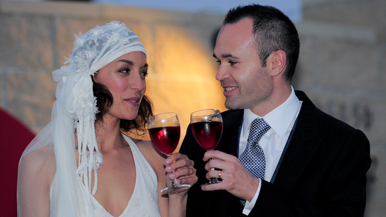 Andrés Iniesta se casa con Anna Ortiz