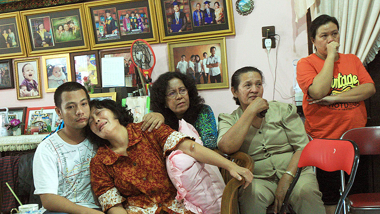 Angustia entre las familias de vuelo de Malaysia Airlines