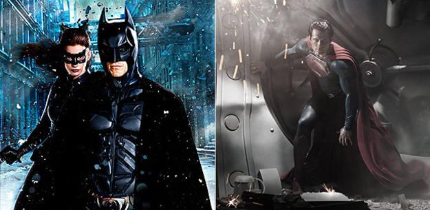 Anne Hathaway y Christian Bale en 'El caballero oscuro: La leyenda renace' (2012) y Henry Cavill en 'Superman: Man of Steel' (2013)