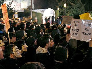 Ver vídeo  'Anonymous protesta a las puertas de los Goya contra la ley Sinde'