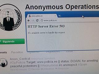Ver vídeo  'Anonymous tumba la web de la Policía Nacional'