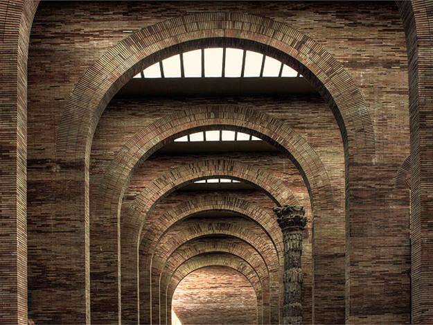 Arcos en el Museo de Arte Romano de Mérida