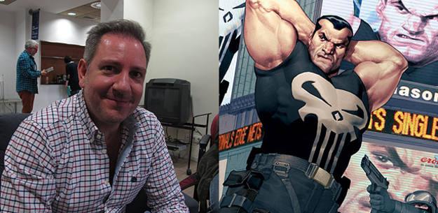 Ariel Olivetti y uno de sus personajes favoritos, Punisher (El Castigador)