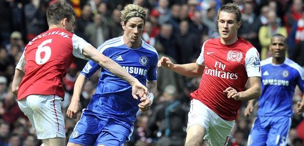 El español Fernando Torres, del Chelsea, en el partido contra el Arsenal
