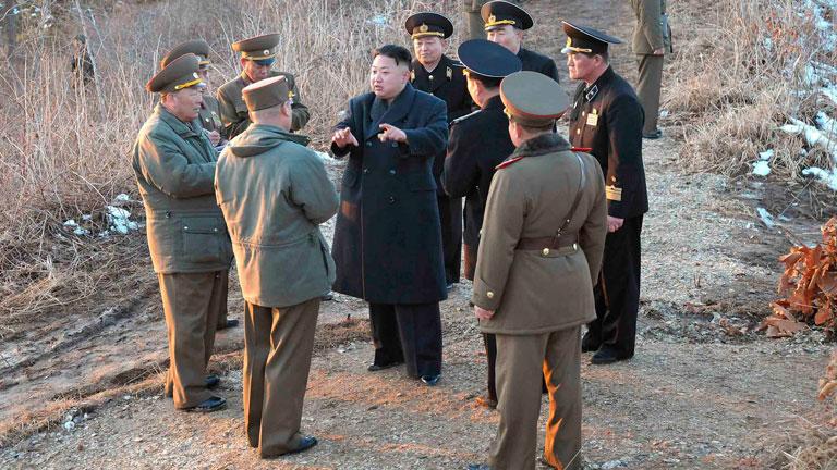 La artillería norcoreana preparada para atacar las bases americanas