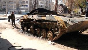 Ver vídeo  'La artillería siria vuelve a atacar Homs'