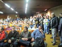 Asamblea de los trabajadores de Spanair en el aeropuerto de Barajas