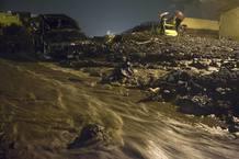 Aspecto del municipio de Los Realejos (Tenerife) tras las intensas lluvias