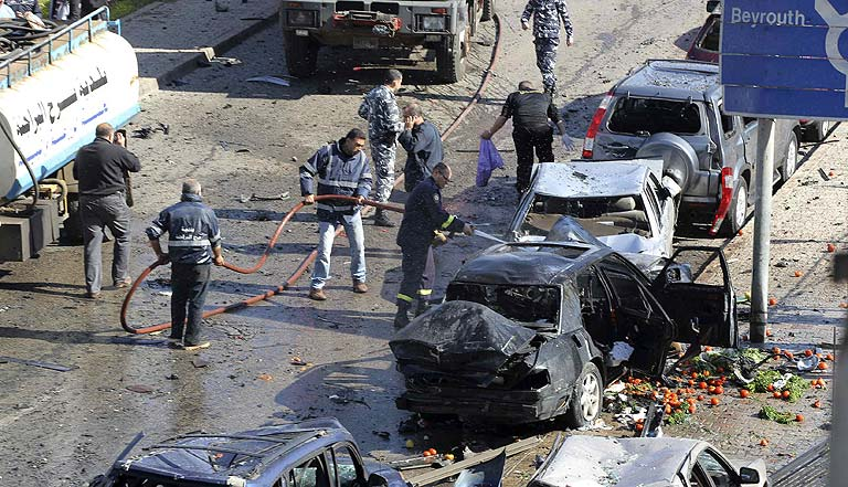 Doble atentado en un barrio chií en Beirut