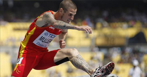 El atleta catalán Ángel Mullera
