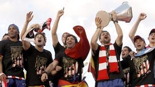 Ver vídeo  'El Atlético espera rival para la Supercopa'