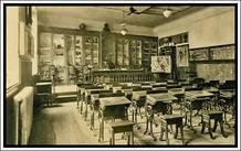 Un aula del colegio de San Ildefonso, en una foto de archivo.