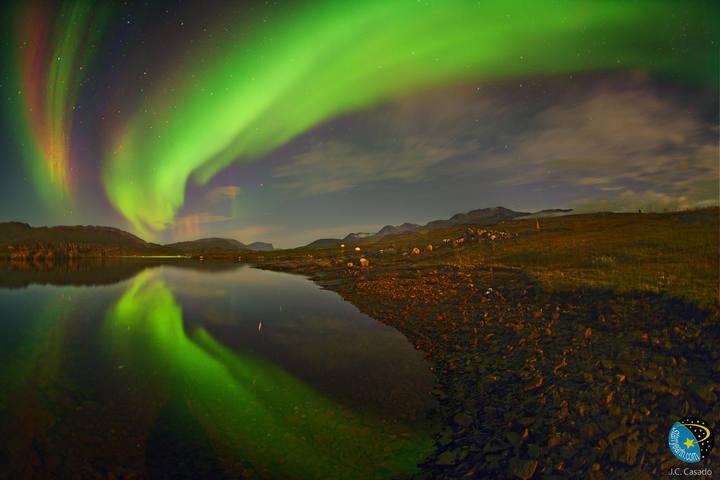 Aurora boreal captada en agosto de 2013 por el proyecto GLORIA.