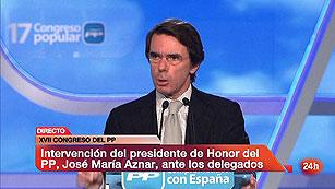 """Ver vídeo  'Aznar envía un mensaje """"muy sencillo"""" a los terroristas: """"Nosotros ganamos y ellos pierden""""'"""