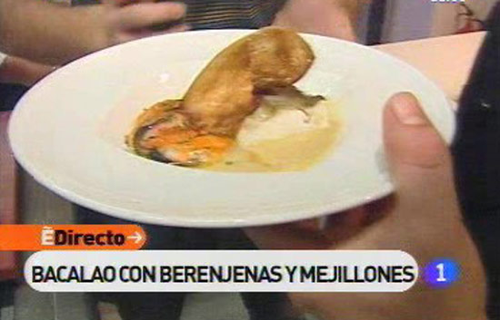 Espa&ntilde;a Directo - Bacalao con berenjenas y mejillones