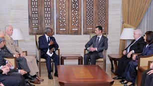 Ver vídeo  'Bachar al Asad recibe a Kofi Annan