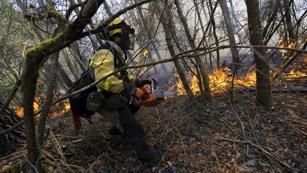 Ver vídeo  'Bajo el fuego el Parque Natural de Fragas do Eume con más de 750 hectáreas quemadas'