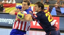 Ir al Video Balonmano - Liga de campeones: 1/4 Final ida: BM At. Madrid - FC Barcelona Intersport