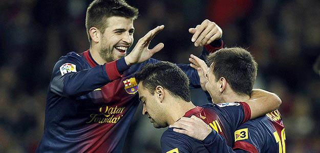 Messi, Xavi y Piqué, tres artífices del éxito del Barça.