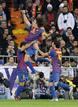 Barcelona's Puyol celebrates after scoring against Real Madrid during their Spanish King's Cup soccer match in Madrid