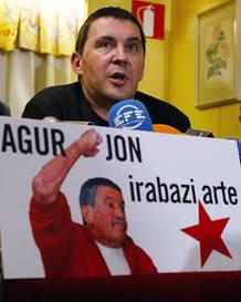 Arnaldo Otegi, en un acto de homenaje al histórico dirigente de Herri Batasuna Jon Idígoras.