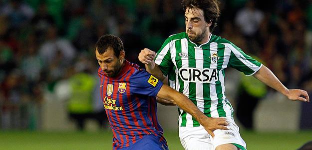 Beñat, en el partido de Liga del Betis contra el Barcelona.