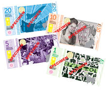 Billetes de muestra de libras de Bristol