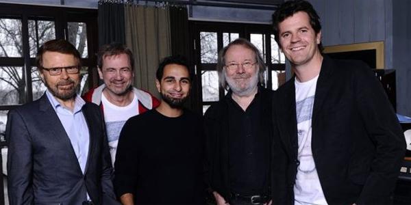 Bjön Ulvaeus, Christer Björkman, Ash, Benny Andersson y Martin Österdahl