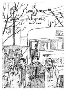 Boceto para la portada de 'El invierno del dibujante', de Paco Roca