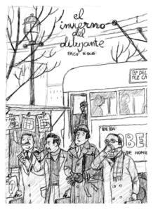 Boceto para la portada de 'El invierno del dibujante', de Paco Roca
