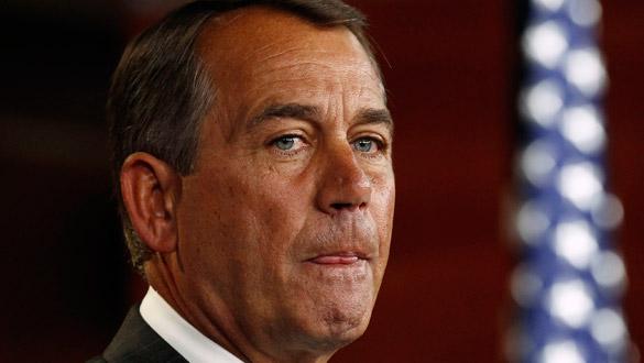 El nuevo líder de la Cámara de Representantes, John Boehner, en una rueda de prensa.