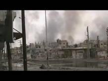 Bombardeos sobre Baba Amro, en Homs