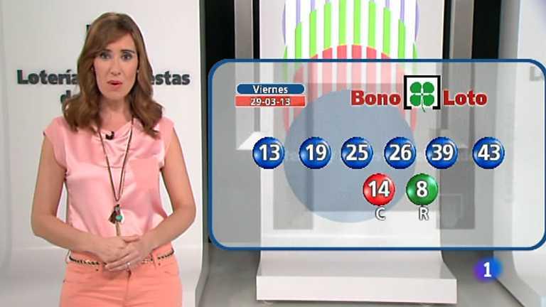 Bonoloto, Lototurf y Euromillones - 29/03/13
