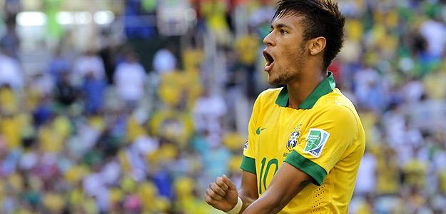 Neymar celebra su gol ante México.